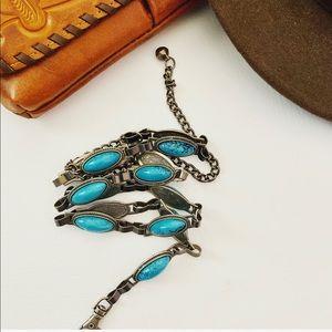 Vintage Petite Turquoise Concho Belt